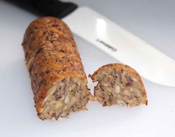 sliced tempeh sausage
